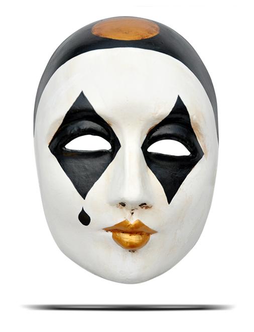Карнавальная маска папье маше